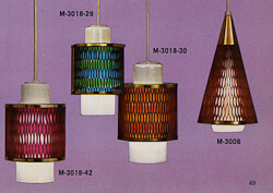 1960s moe light honeycomb pendant light