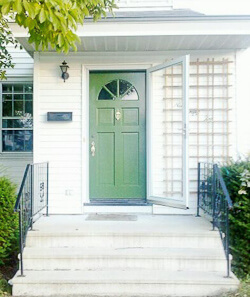 Kate's green front door
