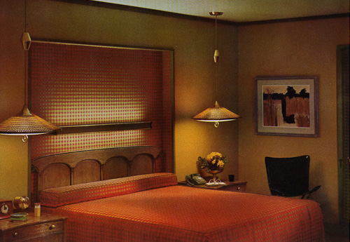 vintage moe lighting in a bedroom