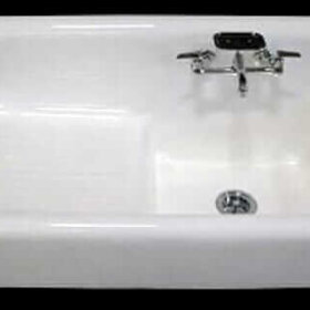 farmhouse sink cast iron authentic reproduction 42