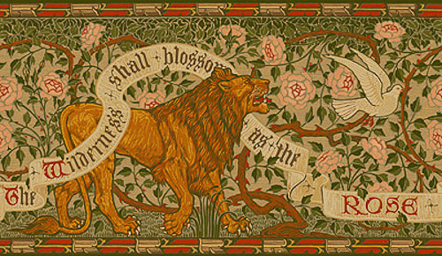 walter crane lion and dove illustration