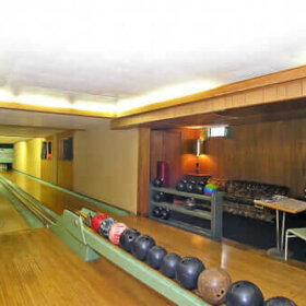 bowling alley in 1962 michigan house