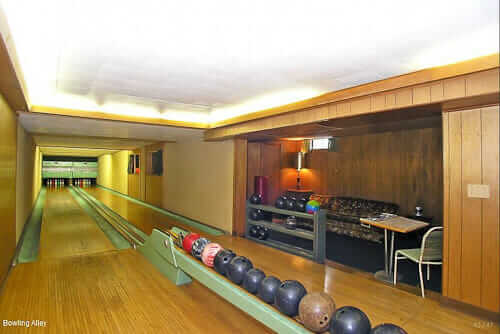 Basement Bowling Alley In 1962 Michigan Time Capsule House