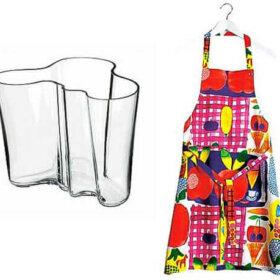 aalto vase and marimekko apron from finnstyle