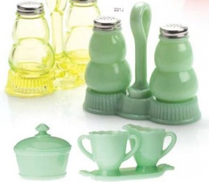 jadeite salt and pepper from mosser glass