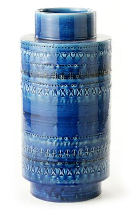 Bitossi Rimini Blu Cylinder Vase still available for sale today