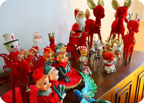 Christmas elves and reindeer