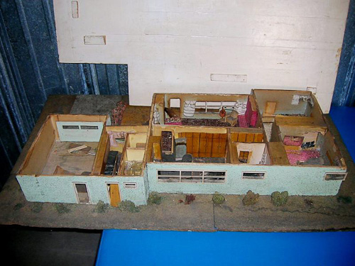 midcentury modern dollhouse decay