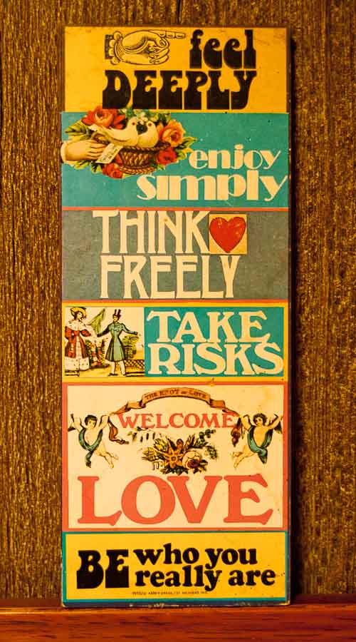 1970s wall plaque