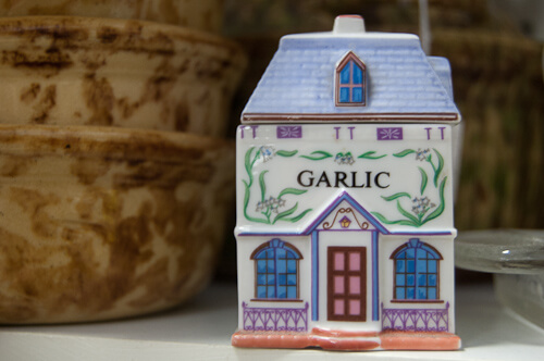 vintage garlic holder