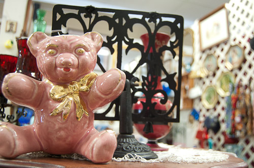 pink porcelain bear