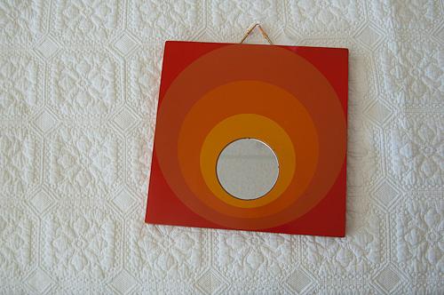 orange mirror 1960s