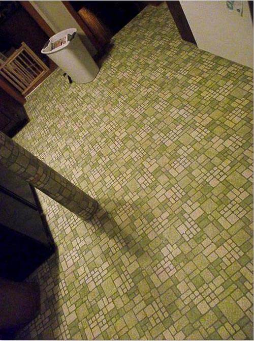 avocado kitchen floor