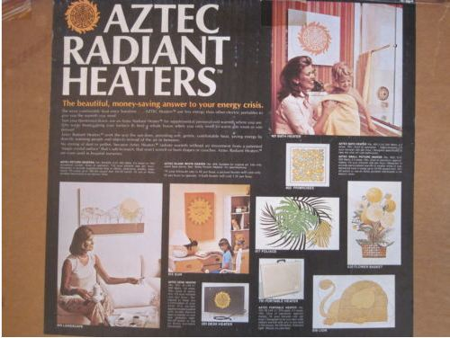 These are the designs that were available -- a heater -- on a wall!