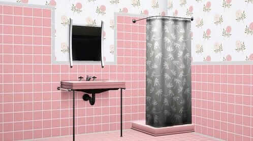 A Mamie Pink Bathroom For Sims 3 Midcentury Classique