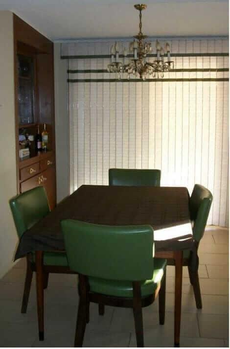 Original plastic blinds ona patio door