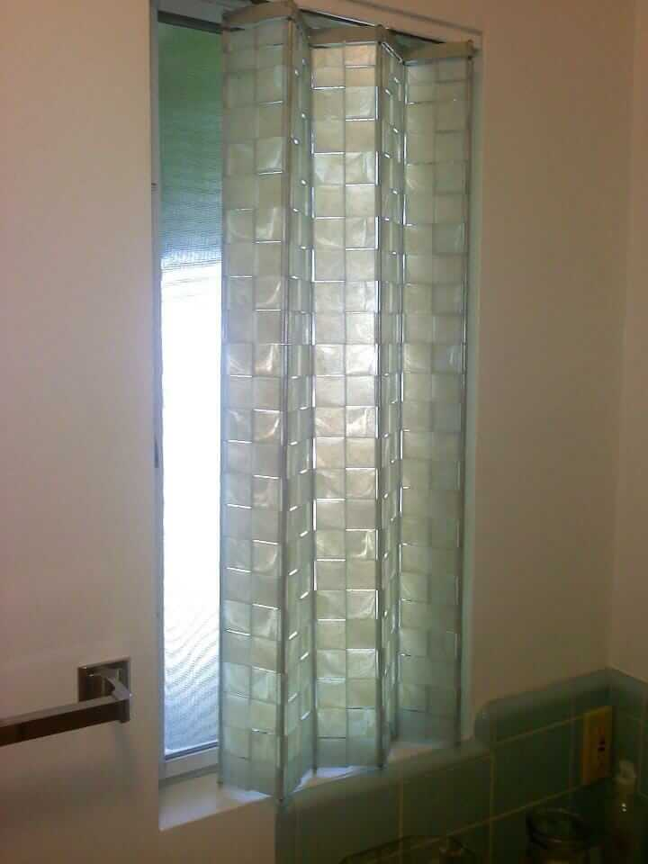 Accordion Bathroom Doors unusual plastic window shades in 1961 midcentury modern bathroom
