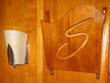 original shasta astrolyte wall light and magazine rack