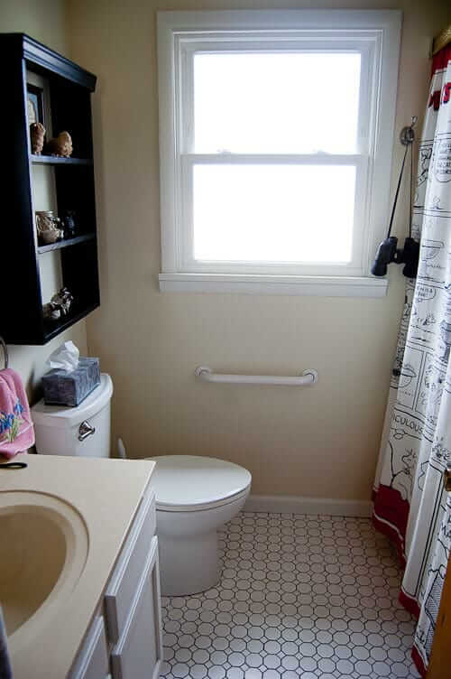 Small bathroom remodel in 5 steps retro renovation for Small bathroom reno