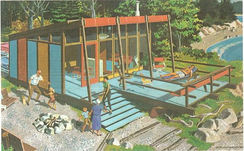 Three stage beach cabin