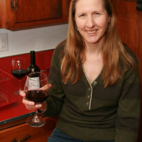 Bonnie Jo Campbell in her updated kitchen