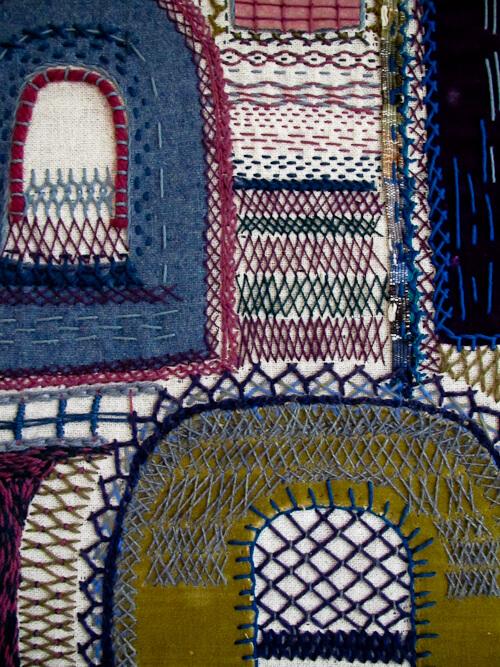 blue textiles