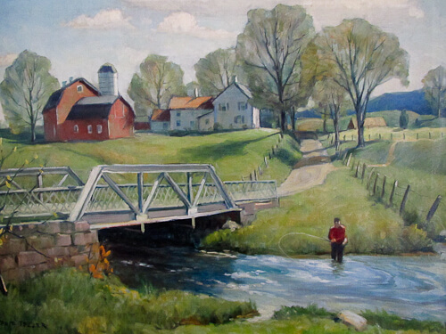 painting of country landscape