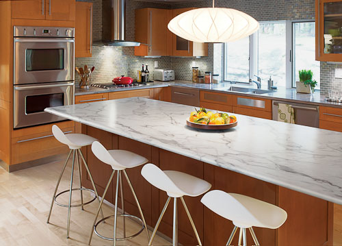 marble countertop with laminate