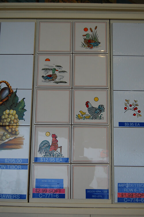 farm animals tile