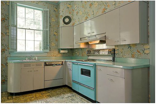 Gray And Turquoise 1956 Dream Kitchen