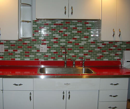 red crackle ice countertop