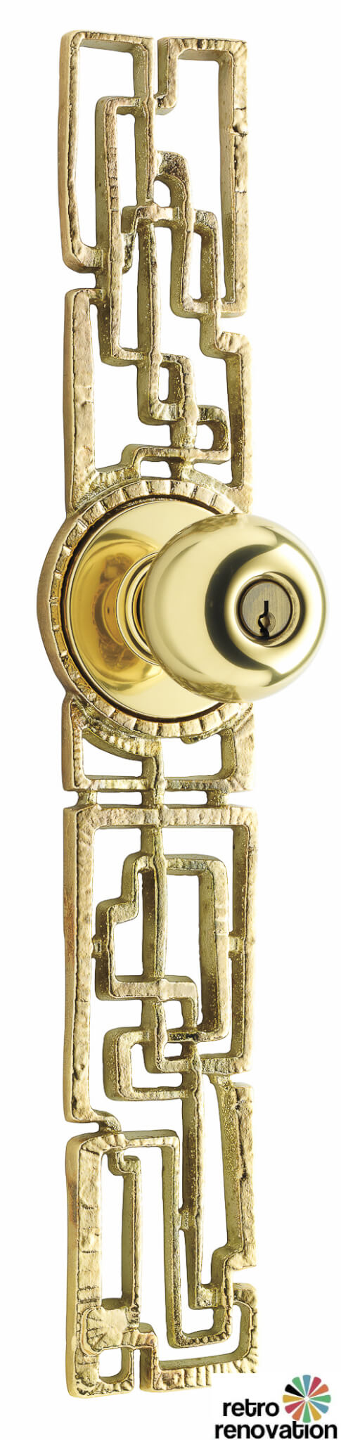 midcentury modern doorset escutcheon, samba by rejuvenation