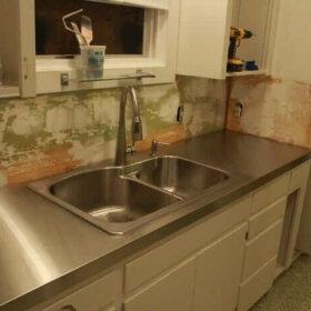 DIY stainless steel countertop