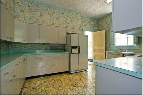 Gorgeous Gray And Turquoise 1956 Dream Kitchen And Four
