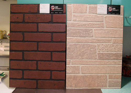 Wall panels that look like brick and stone i dig it