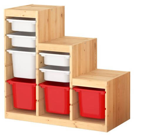 My Ikea hack: Work bench made from Ikea Trofast storage units ...