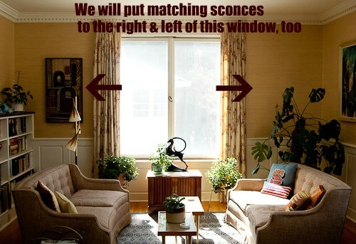 Wall Sconces For Living Room wall sconces and how to place them around a fireplace? - retro