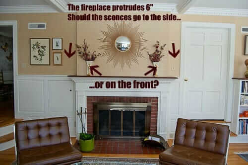 placement of wall sconces Wall and how to place them around a fireplace  Retro