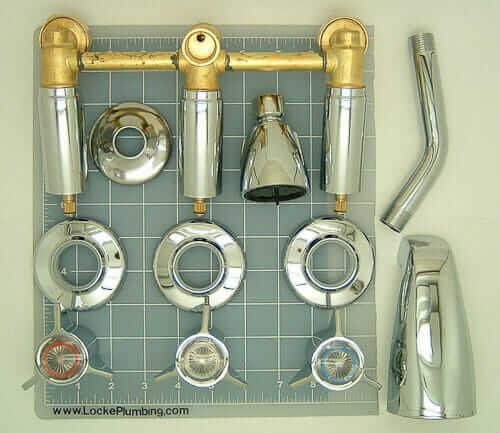 one piece shower faucet. Three handle tub shower faucet sets  three affordable designs Retro Renovation