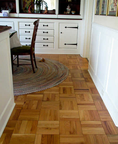 "parquet flooring for a ranch house? yes - an ""authentic"" top-of"