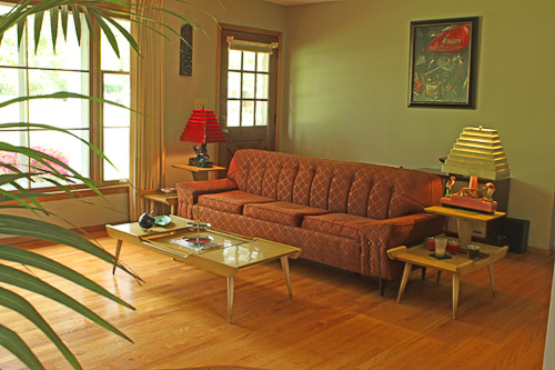 "1960S Living Room Entrancing Jim And Kathleen's ""little Slice Of 1960"" Knoxville Home  Retro Decorating Design"