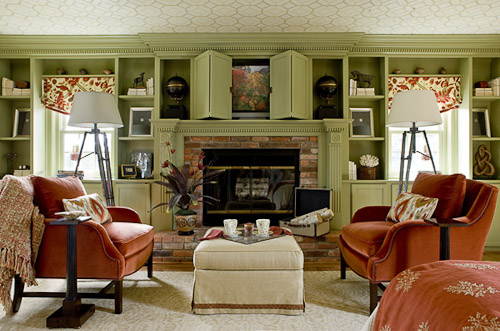 Green Paint Color Good For A Living Room