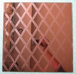 mirror tile coppertone diamonds