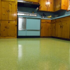 polished vct floors
