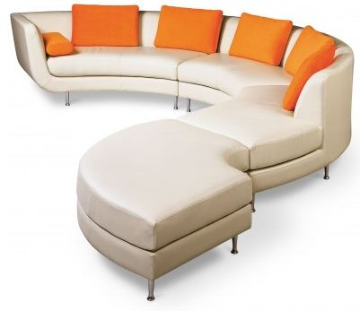... round leather sofa sectional. Wasser ...  sc 1 st  Retro Renovation : semi round sectional sofa - Sectionals, Sofas & Couches