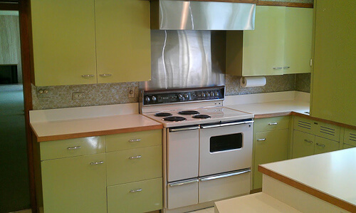Custom Green 1964 St Charles Kitchen Retro Renovation