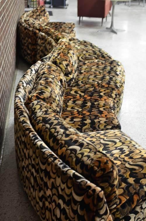 18 Foot Long Sofa Thayer Coggin Vintage 1970s Retro Renovation