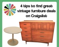 4 tips to find great vintage furniture deals on Craigslist