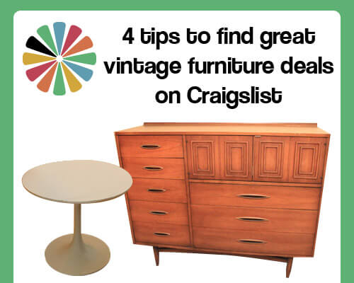 Find great vintage furniture deals on Craigslist - 4 tips to