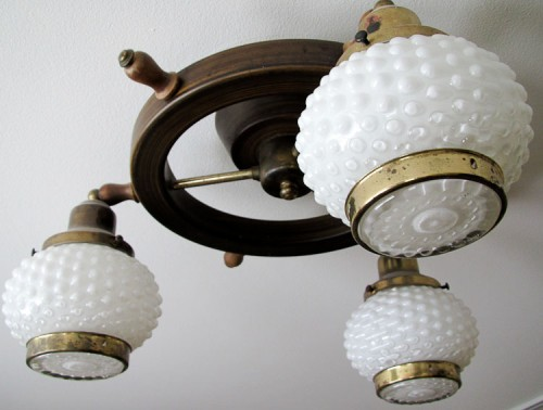 hobnail glass light